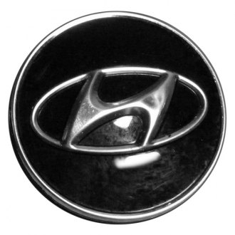 Replace® - Remanufactured Black Wheel Center Cap With Hyundai Logo