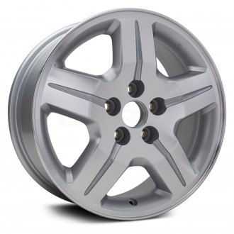 "Replikaz® - 17"" Replica 5 Spokes Machined and Silver Factory Alloy Wheel"