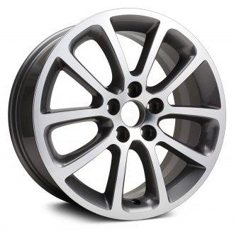 Replikaz 18x7 5 10 Spoke Charcoal Gray Alloy Factory Wheel Replica