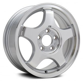 "Replikaz® - 16"" Replica 5 Spokes Machined and Sparkle Silver Acrylic Factory Alloy Wheel"
