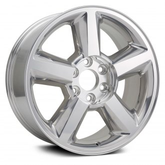 "Replikaz® - 20"" Replica 5 Spokes Bright Polished Factory Alloy Wheel"