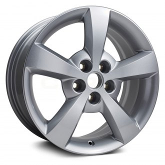 "Replikaz® - 17"" Replica 5 Spokes All Painted Medium Sparkle Silver Factory Alloy Wheel"