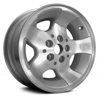 "Replikaz® - 15"" 5-Spoke Machined and Silver Factory Alloy Wheel (Remanufactured)"