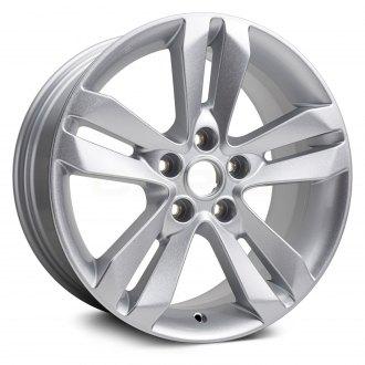 2012 nissan altima replacement factory wheels \u0026 rims carid comreplikaz® 17x7 5 5 split spoke silver alloy factory wheel (replica