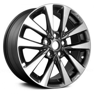2016 nissan altima replacement factory wheels \u0026 rims carid comreplikaz® 17x7 5 10 spoke charcoal gray alloy factory wheel (replica