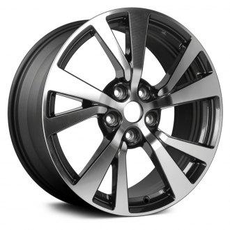 2016 nissan maxima replacement factory wheels rims carid 2015 Nissan Maxima replikaz 18x8 5 10 spoke dark gray alloy factory wheel remanufactured