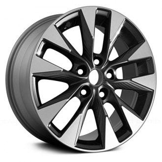 Replikaz 17x6 5 10 Spoke Machined And Charcoal Gray Alloy Factory Wheel