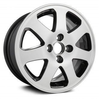 Replikaz 15x6 7 Spoke Machined And Black Pockets Alloy Factory Wheel Replica
