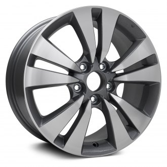 "Replikaz® - 17"" Replica 5 V Spokes Machined Charcoal Textured Factory Alloy Wheel"