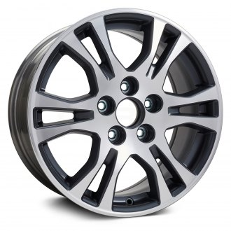 "Replikaz® - 17"" Replica 6 Double Spokes Machined and Charcoal Factory Alloy Wheel"