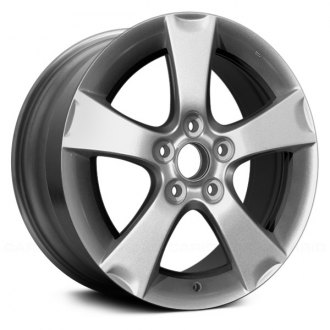 "Replikaz® - 17"" Replica 5 Spokes Silver Factory Alloy Wheel"