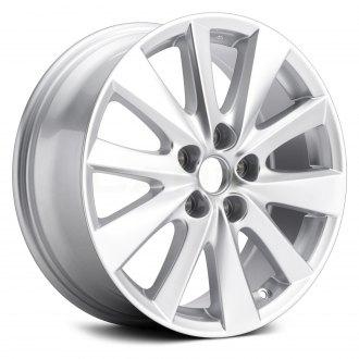 Replikaz 17x7 10 Spoke All Painted Sparkle Silver Alloy Factory Wheel Replica