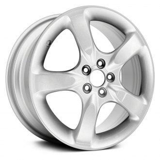 2005 subaru legacy replacement factory wheels rims carid 05 Subaru Legacy GT Limited replikaz 17x7 5 spoke all painted silver alloy factory wheel replica