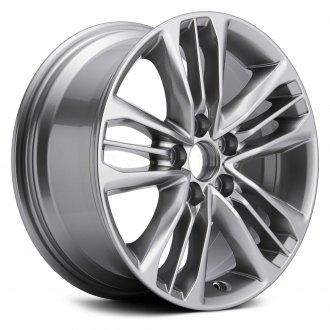 Replikaz 17x7 15 Spoke Dark Silver Metallic Alloy Factory Wheel Replica