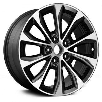 Replikaz 17x7 10 Spoke Machined And Charcoal Alloy Factory Wheel Remanufactured