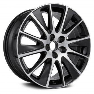 2017 toyota highlander replacement factory wheels rims carid Hyundai Santa Fe replikaz 19x7 5 12 spoke machined and black alloy factory wheel