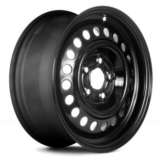 "Replikaz® - 14"" Replica 20 Holes Black Factory Steel Wheel"