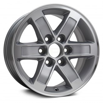 "Replikaz® - 17"" Replica 6 Spokes Machined with Silver Pockets Factory Alloy Wheel"