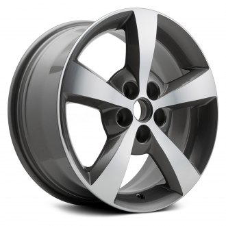 "Replikaz® - 17"" Replica 5 Spokes Machined with Medium Charcoal Metallic Pockets Factory Alloy Wheel"