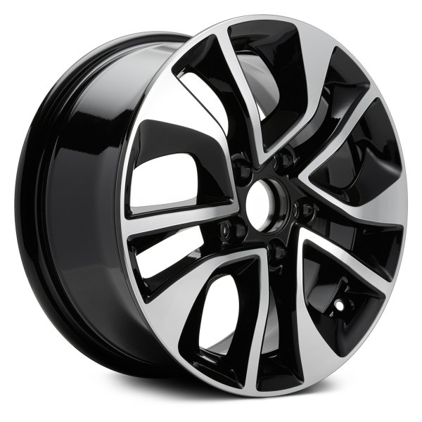 "Replikaz® - 16"" Replica 5 Double Spokes Machined and Black Factory Alloy Wheel"