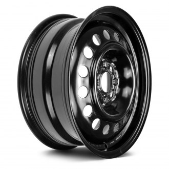 "Replikaz® - 15"" Replica 16 Holes Black Factory Steel Wheel"