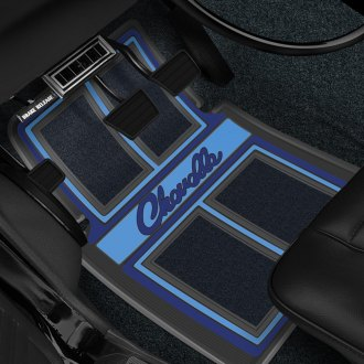 "Restoparts® - Plasticolor Floor Mat Set with ""Chevelle"" Logo"