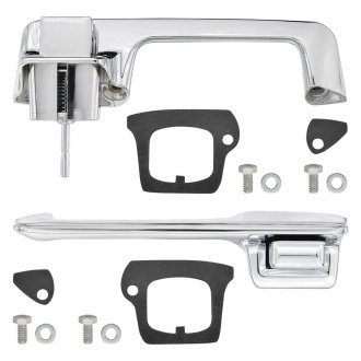 Restoparts® - Front Driver and Passenger Side Exterior Door Handle Kit