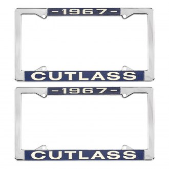 Restoparts® - License Plate Frames with Cutlass Logo