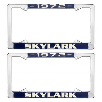 Restoparts® - License Plate Frames with 1972 Skylark Logo