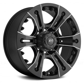 REV WHEELS® - 835 Matte Black with Milled Accents