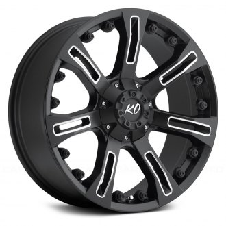 REV WHEELS® - 840 Matte Black with Milled Windows