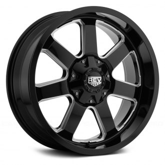 REV WHEELS® - 885 Gloss Black with Milled Accents