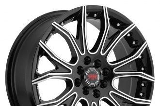 "REVOLUTION RACING® - RR04 Black with Machined Face (17"" x 7.5"", +40 Offset, 5x100 Bolt Pattern, 73.1mm Hub)"