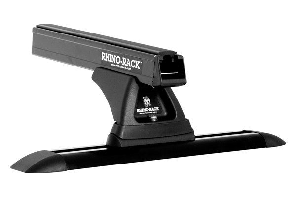 Rhino-Rack® - Heavy Duty Cap Topper Track Mount Roof Rack with Black Cross Bar