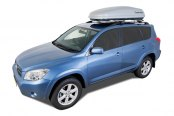 Image may not reflect your exact vehicle! Rhino-Rack® - Master-Fit Silver Cargo Box