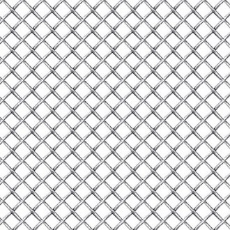 "RI® - 1' x 4' Sheet - 1/4"" x 1/4"" Holes (S) Chrome Weave Mesh Grille"