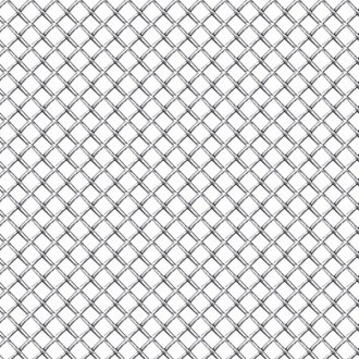 "RI® - 1' x 4' Sheet - 3/8"" x 3/8"" Holes (M) Chrome Weave Mesh Grille"