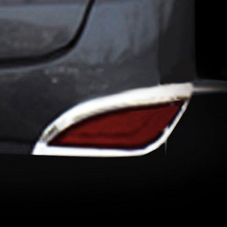 RI® - Chrome Rear Bumper Back Reflector Bezels