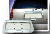 RI® - Chrome Rear License Plate Frame with Tailgate Handle