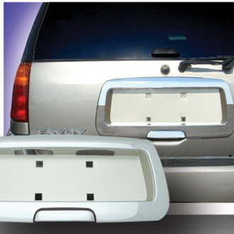 RI® - Chrome Rear License Plate Frame with Frosted Gold Background