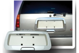 RI® 65-OLBRA02CG - Chrome Rear License Plate Frame with Frosted Gold Background
