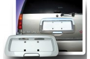 RI® 65-CHTRA02CS - Chrome Rear License Plate Frame with Tailgate Handle (Silver)
