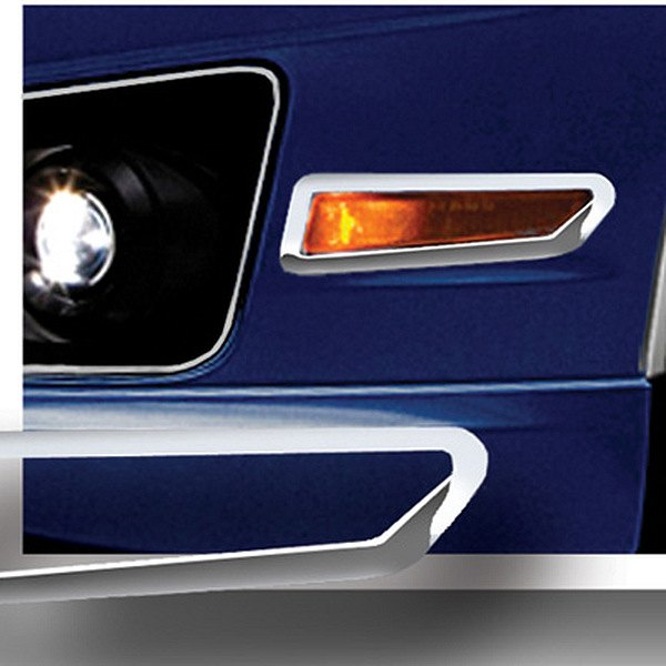 RI® - Polished Stainless Steel Front Bumper Side Marker Light Bezels