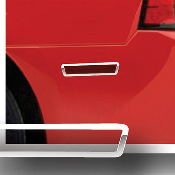 RI® - Polished Stainless Steel Rear Bumper Side Marker Light Bezels