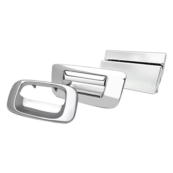 Image may not reflect your exact vehicle! RI® - Polished Stainless Steel Rear Liftgate Handle Cover