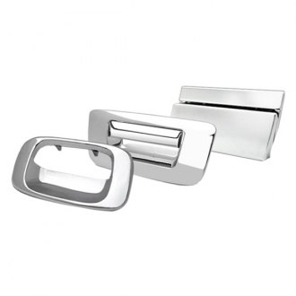 Image may not reflect your exact vehicle! RI® - Chrome Tailgate Handle Cover