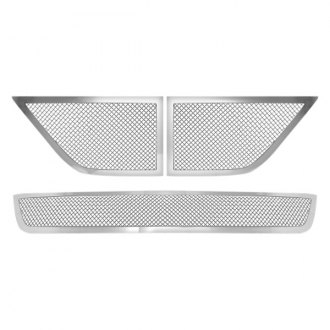 RI® - 1-Pc Chrome Perimeter Weave Mesh Main and Bumper Grille Insert
