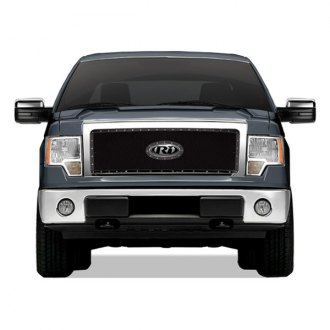 RI® - 1-Pc Black Perimeter Weave Mesh Main Grille with Rivets