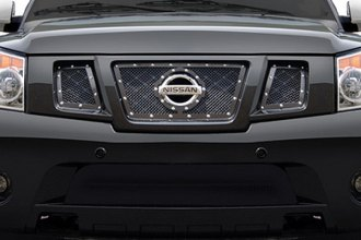 RI® - Black Mesh Grille with Chrome Rivets