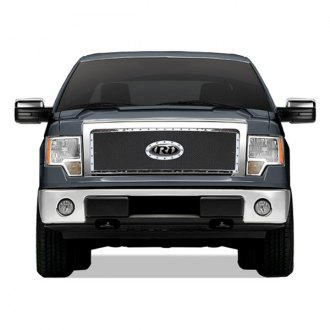 RI® - 1-Pc Chrome Perimeter Weave Mesh Main Grille with Rivets